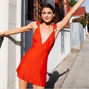 Free People Josie Mini Dress - Red